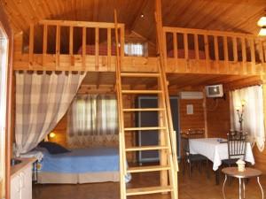 Interior cabaña 4 personas