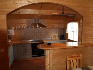 Cocina cabaña 5-6 personas