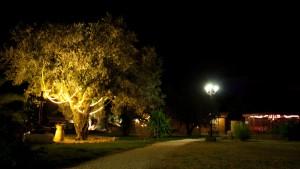 Fotografía tomada al caer la noche en nuestro complejo rural